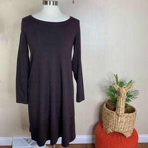 Eileen Fisher Long Sleeve Organic Cotton Dress